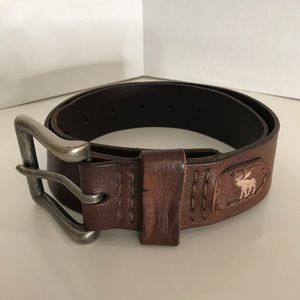 Men's Abercrombie & Fitch Leather Belt Small/Med